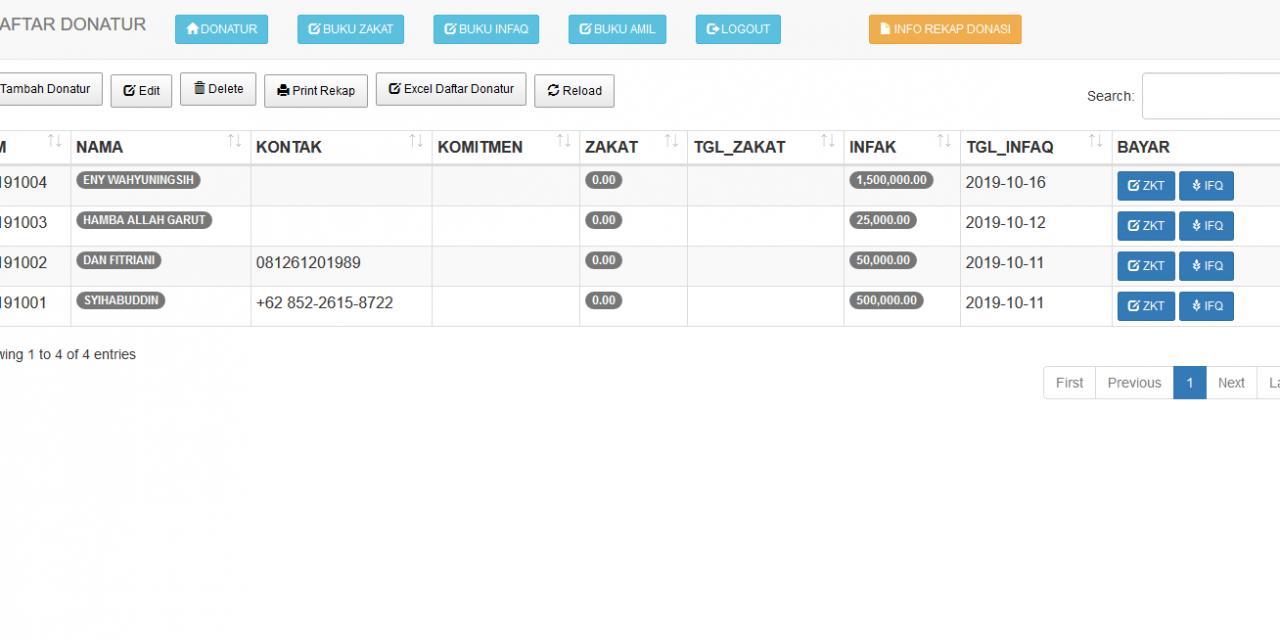 Aplikasi Pengelolaan Zakat, Infaq dan Shadaqah AAMIL